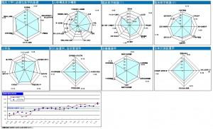 模擬試験結果(レーダーチャート)